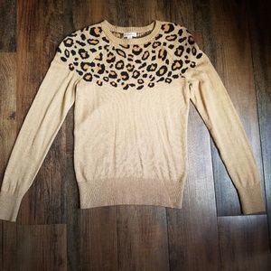 Merona xs leopard print sweater